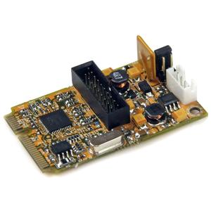 StarTech.com 2 Port SuperSpeed Mini PCI Express USB 3.0 Adapter Card w/ Bracket Kit and UASP Support - Dual Port Mini PCIe