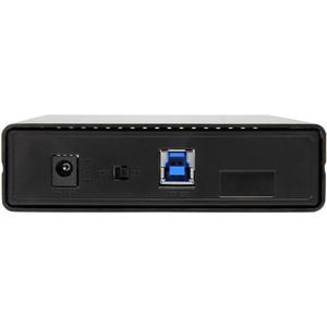 "StarTech.com 3.5in Black Aluminum USB 3.0 External SATA III SSD / HDD Enclosure with UASP for SATA 6Gbps - 3.5"" SATA Hard"