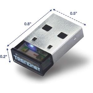 Adattatore Bluetooth TRENDnet TBW-106UB - Bluetooth 2.0 - Esterno - USB 2.0 - 3 Mbit/s - 100 m Range all'esterno