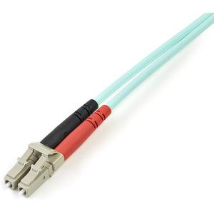 StarTech.com Cable de Fibra Óptica Patch de 10Gb Multimodo 50/125 Dúplex LSZH LC a LC de 5m - Aqua - Extremo prinicpal: 2