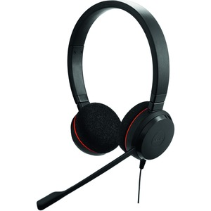 Jabra EVOLVE 20 Wired Over-the-head Stereo Headset - Binaural - Supra-aural - Noise Cancelling Microphone - USB
