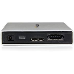 """StarTech.com 2.5"""" External Hard Drive Enclosure - Supports UASP - eSATAp or USB 3.0 - Aluminum - eSATA Enclosure - SSD/HDD"""