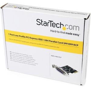 StarTech.com Parallel Adapter - PCI Express x1 - 1 x Number of Parallel Ports External