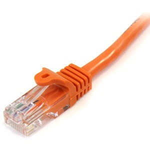 StarTech.com 3 m Orange Cat5e Snagless RJ45 UTP Patch Cable - 3m Patch Cord - Ethernet Patch Cable - RJ45 Male to Male Cat
