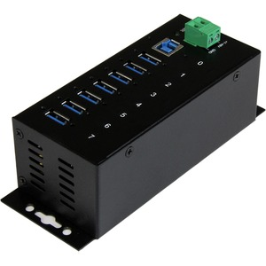 StarTech.com 7 Port Industrial USB 3.0 Hub with ESD - Add seven USB 3.0 ports with this DIN rail or surface-mountable meta