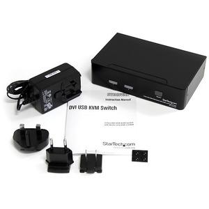 Switch Conmutador KVM de 2 Puertos DVI con Hub USB 2.0 y Audio StarTech.com SV231DVIUA