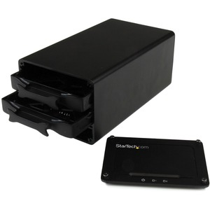 """StarTech.com USB 3.1 (10Gbps) External Enclosure for Dual 2.5"""" SATA Drives - RAID - UASP - Compatible with USB 3.0 and 2.0"""