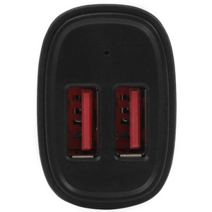 StarTech.com Dual Port USB Car Charger - High Power 24W/4.8A - Black - 2-Port USB Car Charger - Charge two tablets at once