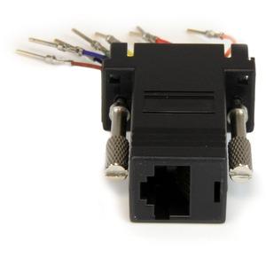 StarTech.com Data Transfer Adapter - 1 x DB-9 Male - 1 x RJ-45 Female - Grey