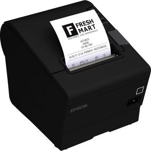 Epson TM-T88VI Desktop Direct Thermal Printer - Monochrome - Wall Mount - Receipt Print - Ethernet - USB - Serial - Near F