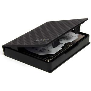 StarTech.com HDDCASE25BK Hard Disk Case - Polypropylene - Black - 1 Hard Drive