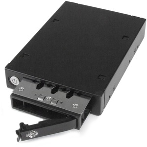 StarTech.com Drive Enclosure - Serial ATA/600 Host Interface Internal - Black, Silver - 1 x HDD Supported - 1 x SSD Suppor