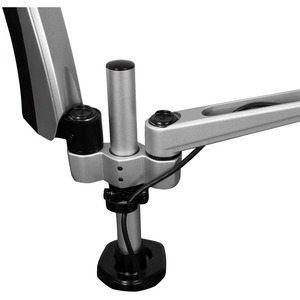 """StarTech.com ARMDUAL30 Mounting Arm for Monitor - Black, Silver - TAA Compliant - 2 Display(s) Supported76.2 cm (30"""") Scre"""