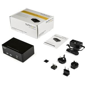 StarTech.com Switch KVM a 2 porte DisplayPort per doppio Monitor - 4k 60hz - 2 Computer - 1 Utente Locale - 3840 x 2160 -