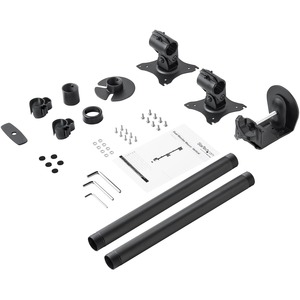 StarTech.com Vertical Dual Monitor Mount - Heavy Duty Steel - For VESA Mount Monitors up to 27in - Adjustable Double Monit