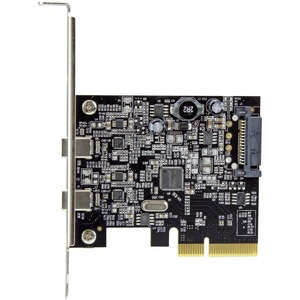 StarTech.com Tarjeta PCI Express de 2 Puertos USB 3.1 - Hub Ladrón Concentrador PCI-E Interno 2x USB C - 2 Total USB Port(