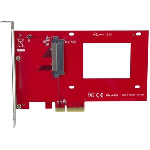 "StarTech.com U.2 to PCIe Adapter - x4 PCIe - For 2.5"" U.2 NVMe SSD - SFF-8639 PCIe Adapter - U.2 SSD - PCIe SSD - U.2 drive"