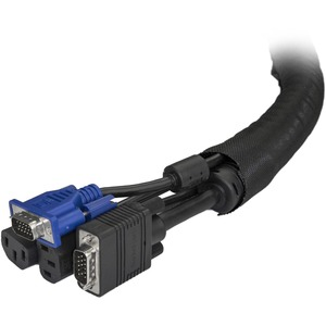 StarTech.com Cable Management Sleeve - 2m - Cable Management Tube - Cord Hider - Cable Organizer - Cord Management - Cable
