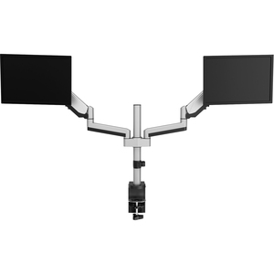 "V7 DM1DTA-1E Desk Mount for Monitor - Silver - 2 Display(s) Supported81.3 cm (32"") Screen Support - 16 kg Load Capacity"