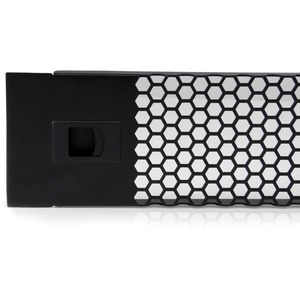 2U Hinged Blanking Panel - Vented Server Rack Panel - Tool-less Installation - TAA Compliant Cooling Filler Panel (RKPNLHV2U)