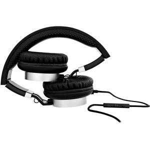 Cuffie V7 HA601-3EP Cavo Over-the-head Stereo - Nero, Argento - Binaural - Circumaurale - 32 Ohm - 20 Hz a 20 kHz - 180 cm