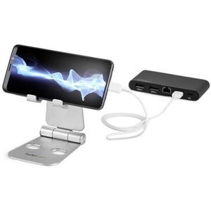StarTech.com Phone and Tablet Stand - Foldable Universal Mobile Device Holder - Smartphones/Tablets - Adjustable Cell Phon