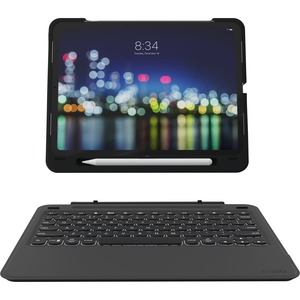 "ZAGG Slim Book Go Keyboard/Cover Case (Book Fold) for 27.9 cm (11"") Apple iPad Pro Tablet - Black - Polycarbonate - 233.7"
