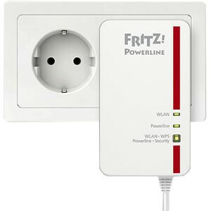 Adattatore Powerline Network - FRITZ! 1260E - 1 - 1 x Rete (RJ-45) - 1200 Mbit/s Powerline - LAN wireless - IEEE 802.11ac