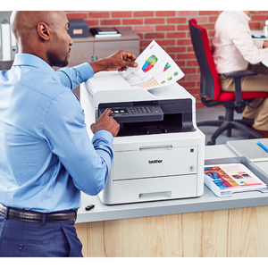 Brother MFC MFC-L3770cdw Wireless LED Multifunction Printer - Colour - Copier/Fax/Printer/Scanner - 25 ppm Mono/25 ppm Col