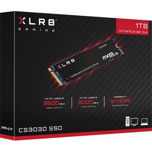 PNY XLR8 CS3030 2 TB Solid State Drive - M.2 2280 Internal - PCI Express - 3115 TB TBW - 3500 MB/s Maximum Read Transfer R