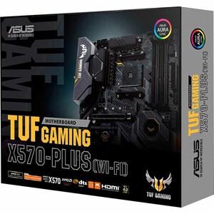 TUF GAMING X570-PLUS (WI-FI) Desktop Motherboard - AMD Chipset - Socket AM4 - ATX - 128 GB DDR4 SDRAM Maximum RAM - DIMM,