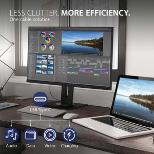 """Viewsonic VG2455 61 cm (24"""") Full HD WLED LCD Monitor - 16:9 - Black - 609.60 mm Class - In-plane Switching (IPS) Technolo"""