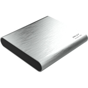 """PNY Pro Elite 250 GB Portable Solid State Drive - 2.5"""" External - Brushed Silver - USB 3.1 (Gen 2) Type C - 880 MB/s Maxim"""