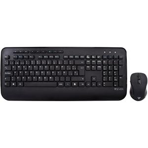 Kit (Combo) Profesional teclado multimedia + ratón inalámbricos 2.4Ghz, layout Castellano /QUERTY ES, teclas de acceso ráp