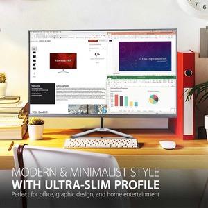 """Viewsonic VX3276-4K-MHD 80 cm (31.5"""") 4K UHD WLED LCD Monitor - 16:9 - Silver - 812.80 mm Class - MVA technology - 3840 x"""