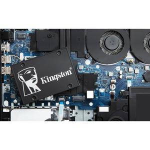 "Kingston KC600 512 GB Solid State Drive - 2.5"" Internal - SATA (SATA/600) - 3.5"" Carrier - Desktop PC, Notebook Device Sup"