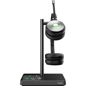 Yealink WH62 Dual Teams Wireless Over-the-head Stereo Headset - Binaural - Supra-aural - 16002 cm - DECT CAT-iq - 32 Ohm -