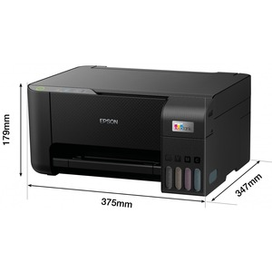 Epson EcoTank L3210 Inkjet Multifunction Printer - Colour - Black - Copier/Printer/Scanner - 33 ppm Mono/15 ppm Color Prin