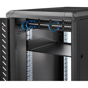 """StarTech.com 2U Heavy Duty Server Rack Mount Shelf - 125lbs - 18in Deep Steel Universal Cantilever Tray for 19"""" AV/ Networ"""