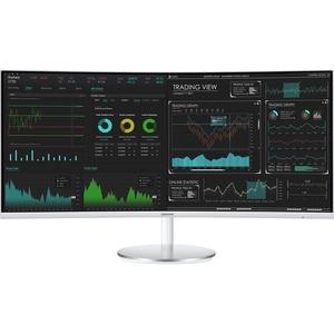 "Monitor LCD Samsung C34J791WTR 86,4 cm (34"") UW-QHD Schermo curvo Schermo Quantum dot - 21:9 - 863,60 mm Class - Vertical"
