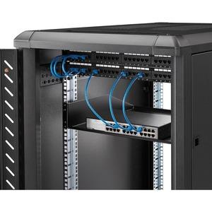 StarTech.com Scaffale cantilever per montaggio a rack 2U - Robusto ripiano per armadio server rack fisso - 56 kg - 56,70 k