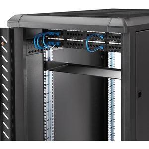 """StarTech.com 1U Server Rack Mount Shelf - 7in Deep Fixed Steel Universal Tray for 19"""" AV, Data & Network Equipment Rack/ C"""