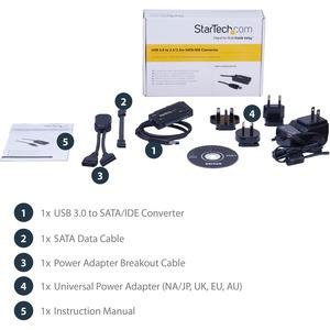 StarTech.com SATA to USB Cable - USB 3.1 10Gbps - 2.5 / 3.5 SATA SSD HDD - SATA to USB Adapter Cable - USB 3.1 to SATA Cab