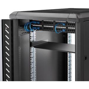 "1U Fixed Server Rack Mount Shelf - 10in Deep Steel Universal Cantilever Tray for 19"" AV/ Network Equipment Rack - 44lbs (C"