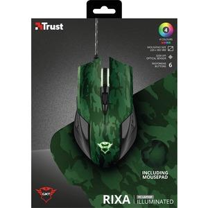 Ratón de juego Trust Gaming GXT 781 - USB - Óptico - 6 Botón(es) - Cable - 3200 dpi - Simétrico