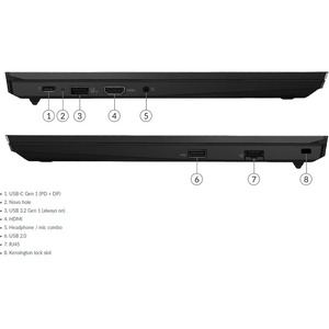 """Portátil - Lenovo ThinkPad E15 G2 20TD001HSP 39,6 cm (15,6"""") - Full HD - 1920 x 1080 - Intel Core i5 i5-1135G7 Quad-core ("""