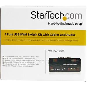 StarTech.com StarTech.com SV411KUSB - KVM / audio switch - USB - 4 ports - 1 local user - Control 4 USB enabled computers