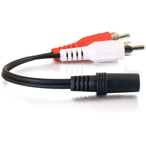 C2G Value Series Audio Y-Cable - Mini-phone Female Stereo - RCA Male Stereo - Black