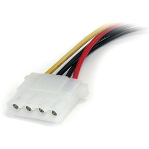 StarTech.com 15 cm SATA to LP4 Power Cable Adapter - F/M - Black