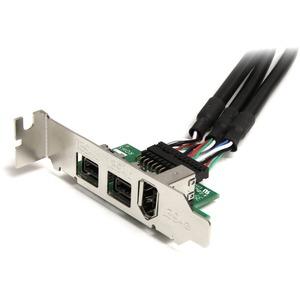 StarTech.com Scheda adattatore Mini PCI Express FireWire 2b 1a 1394 a 3 porte - 3 Porte Firewire totali - 1 Porta/e Firewi